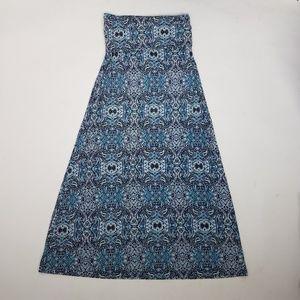 Artisan NY Printed Maxi Skirt Sz S Blue G3